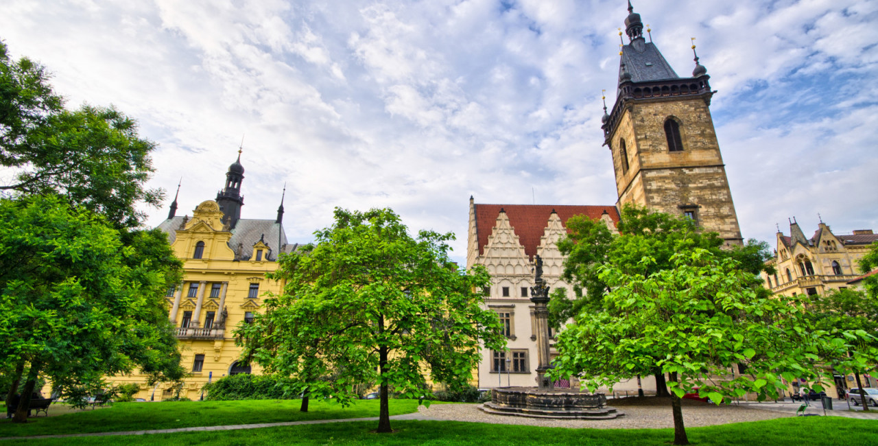 Town hall on Karlove Namesti in Prague - Czech Republic / iStock photo @CCat82