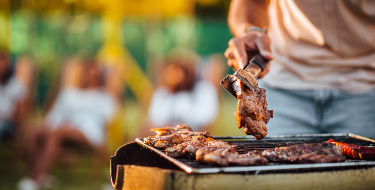 Meat on the grill via iStock / nortonrsx