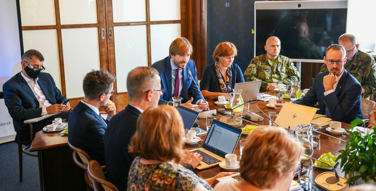 July 29 meeting with heads of the regional hygienic stations / Photo via Twitter @AdamVojtěch