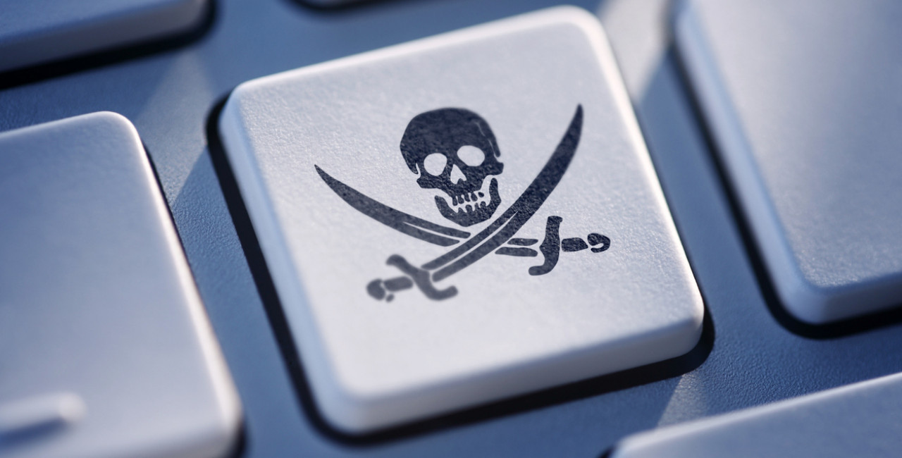 Pirate button on computer keyboard; illustrative concept via iStock / Sitade