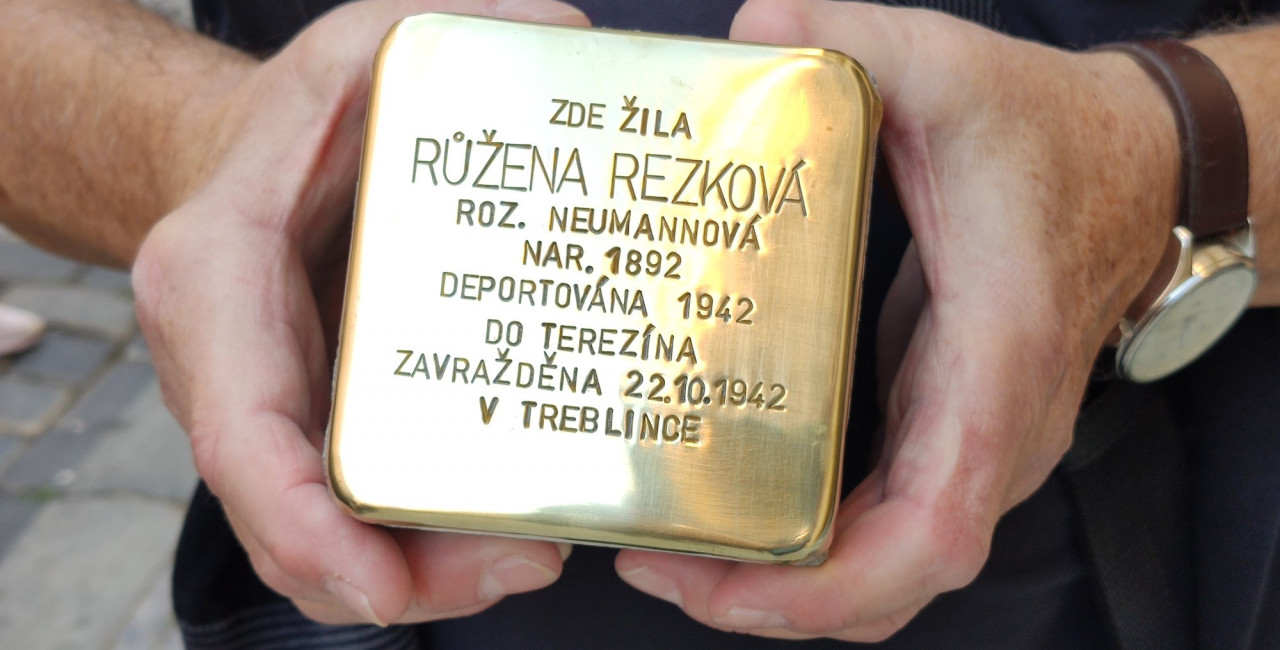 Stolpersteins in Prague / via Facebook