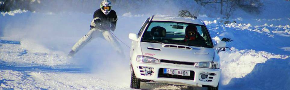 Break-Neck Speeds, Extreme Snow: Czech Car Skiing, Anyone?