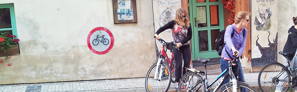 City Bans Bicycles in Pedestrian Areas of Historic Central Prague