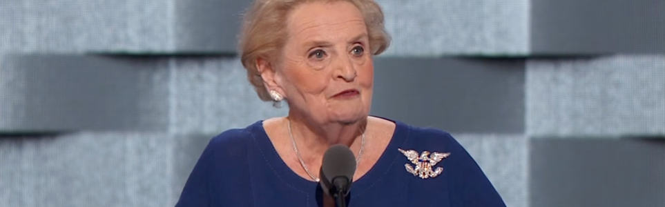 Albright Jokes about Czech Food in DNC Speech