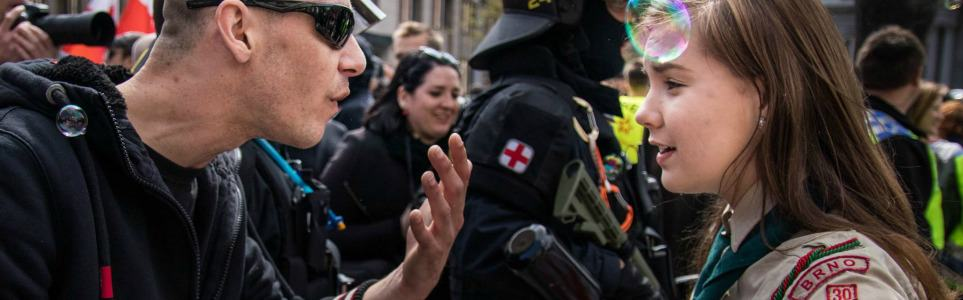 Czech Girl Scout Who Stood Up to Neo-Nazi Is Internet Hero
