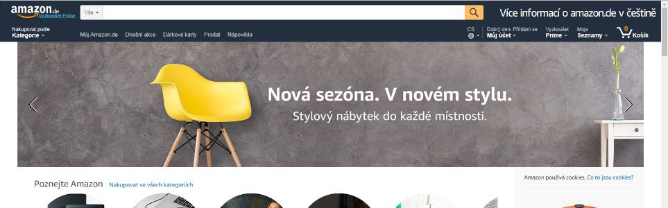 Incredible German Amazon Now Has A Czech Language Option Prague Home Interior And Landscaping Ologienasavecom
