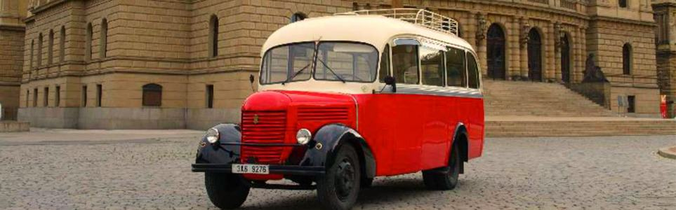 Cruise around the Czech Capital In a Vintage 1945 Praga Bus Today