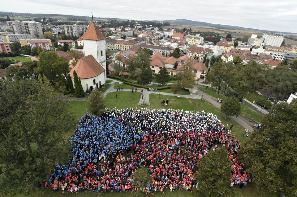 2500+ Kyjov Residents Create Living Czech Flag