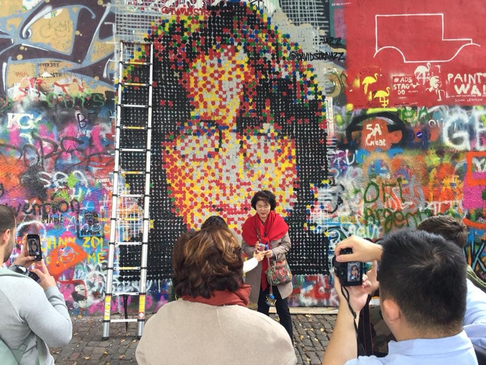 John Lennon's Face Returns to Prague's Iconic Wall