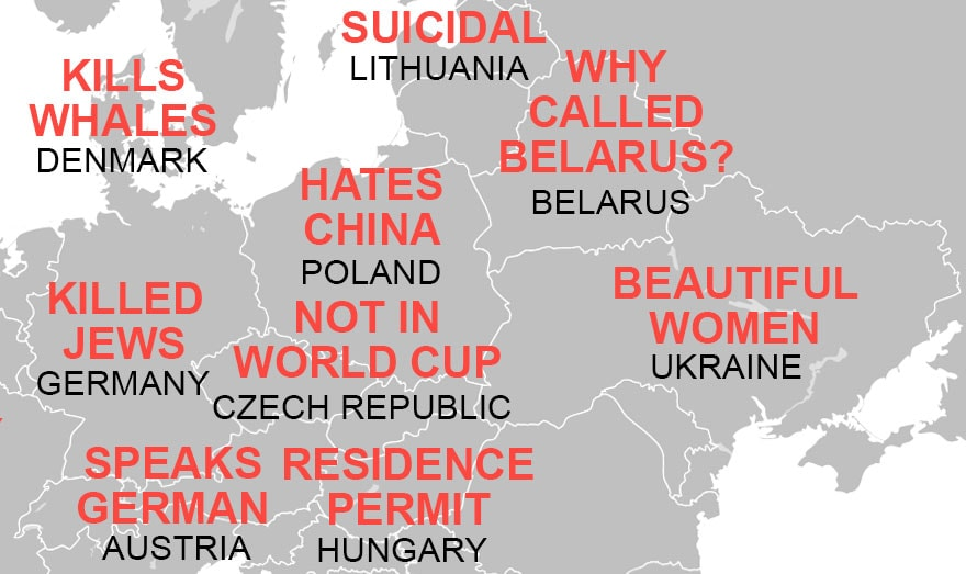 What Do Chinese Think of Czechs? This Map Reveals China's Stereotypes of Europe