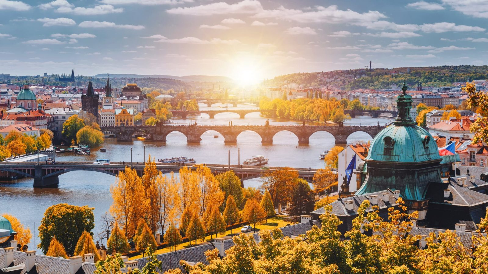 Prague Temperatures Eclipse October Record