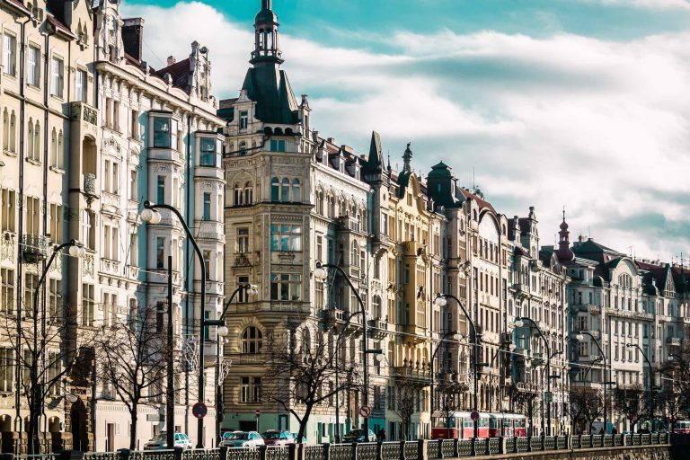 Photo of Buildings and Streets of Prague, Czech Republi