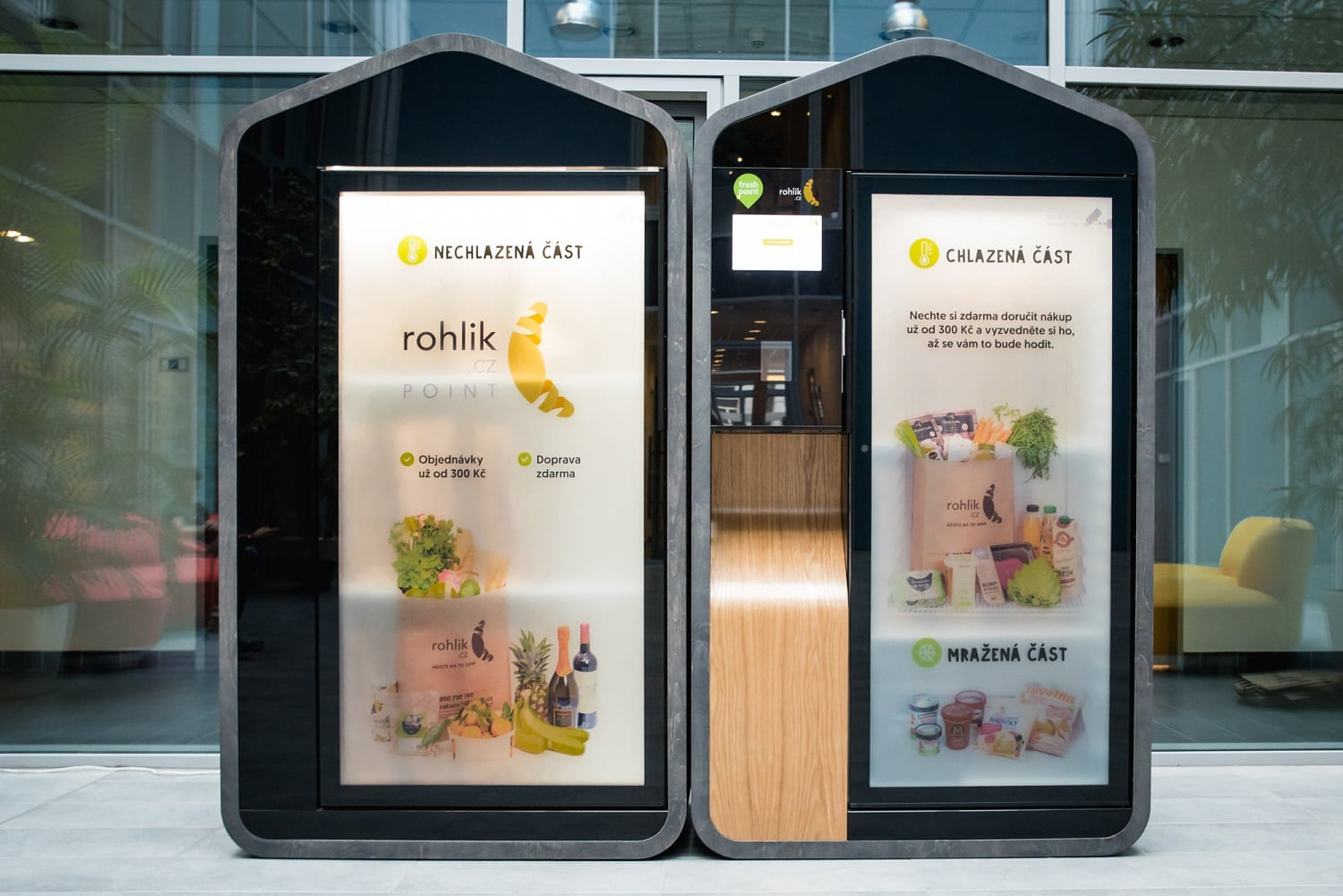 Online supermarket Rohlík launches pick-up kiosks in Prague