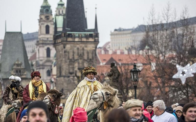 Camels on the streets of Prague: Three Kings' Day is Sunday