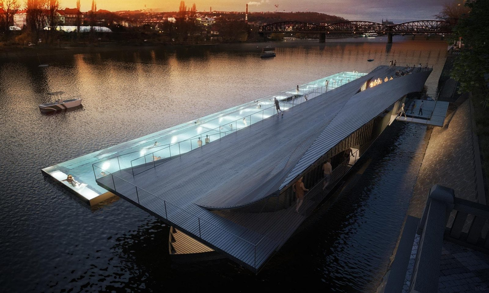 VIDEO: Floating swimming pool on Prague's Vltava River coming by 2020