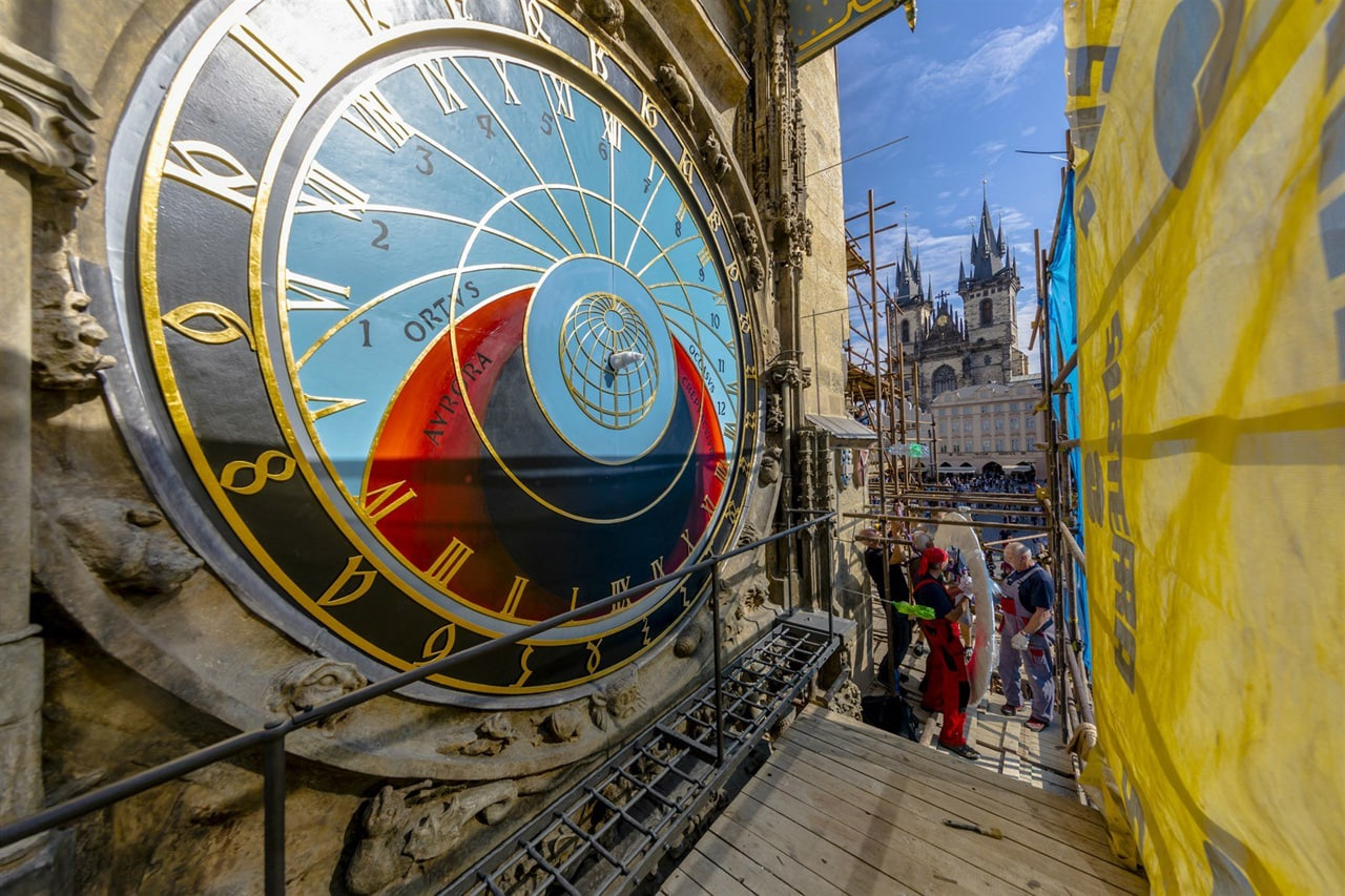 In Photos: the renovation of Prague's Astronomical Clock