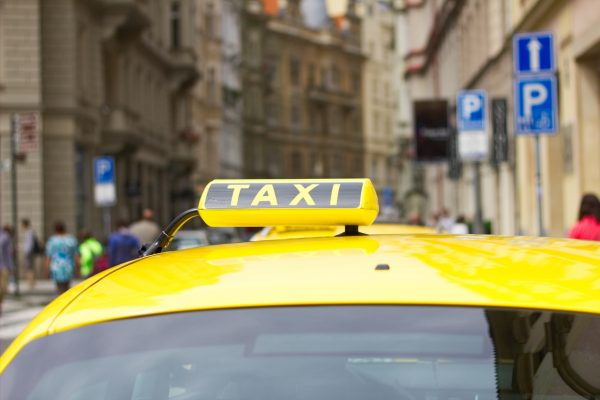 A taxi prowls the streets of Prague (illustrative image)