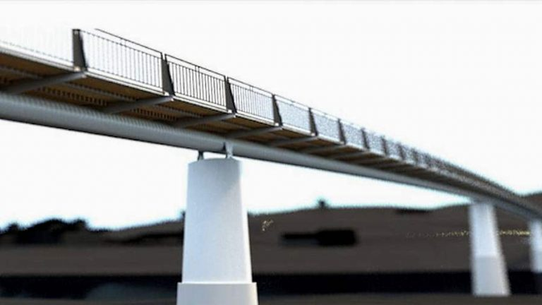 Prague's new Troja footbridge may be ready by next summer, but construction hasn't started yet