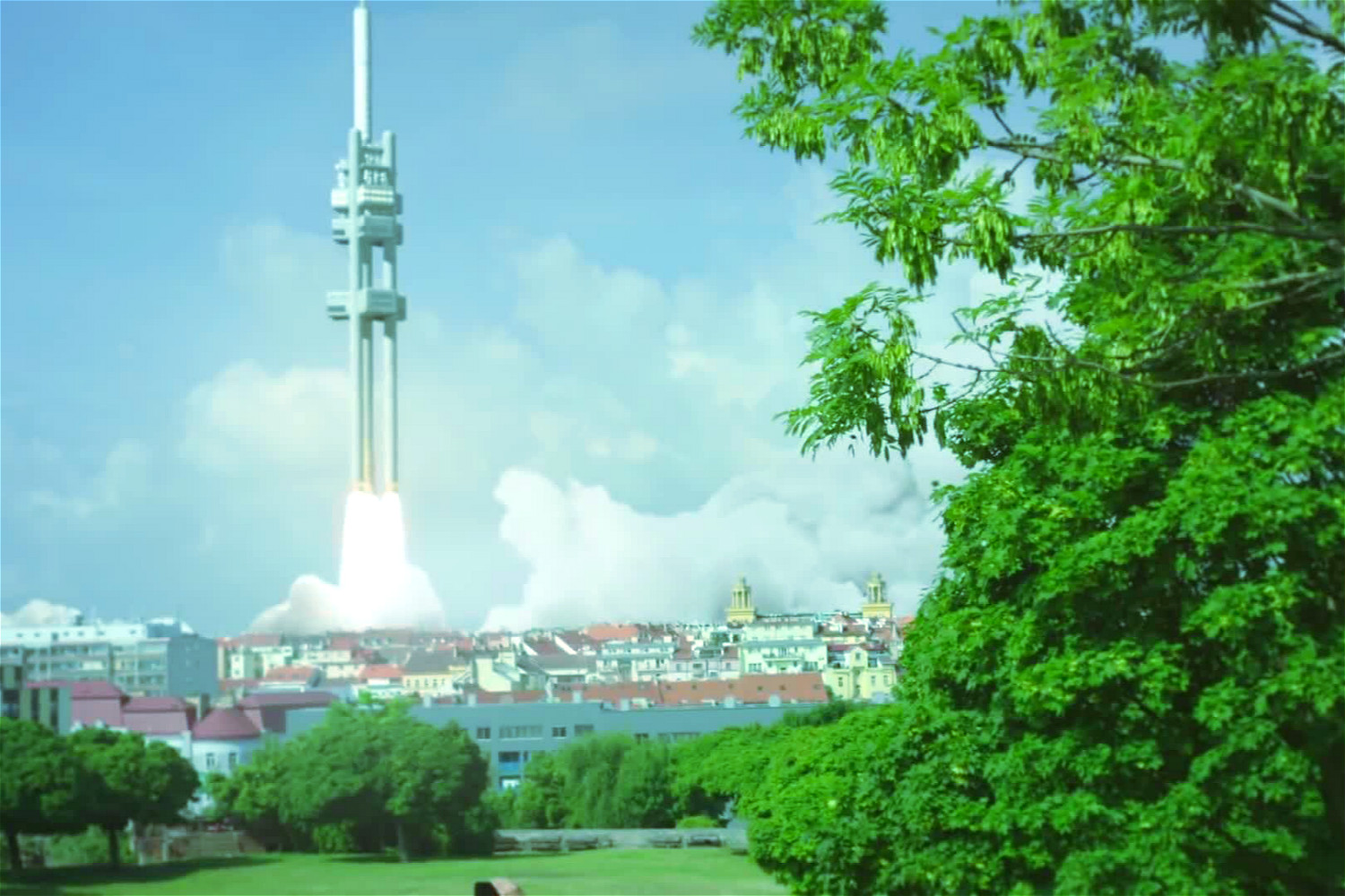 Prague's Žižkov TV Tower to re-create Apollo 11 launch with special videomapping show