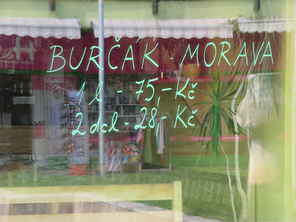 Burčák signs in Prague signal the end of summer and the