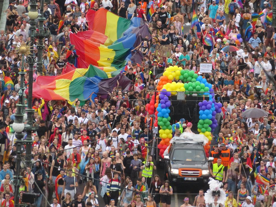Prague Pride March attracts 30,000 supporters, but faces minor protests