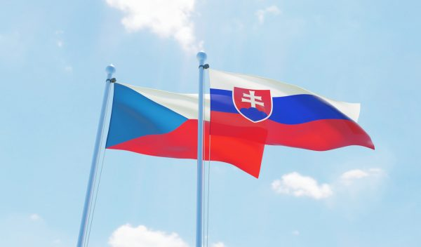 Flags of the Czech Republic and Slovakia