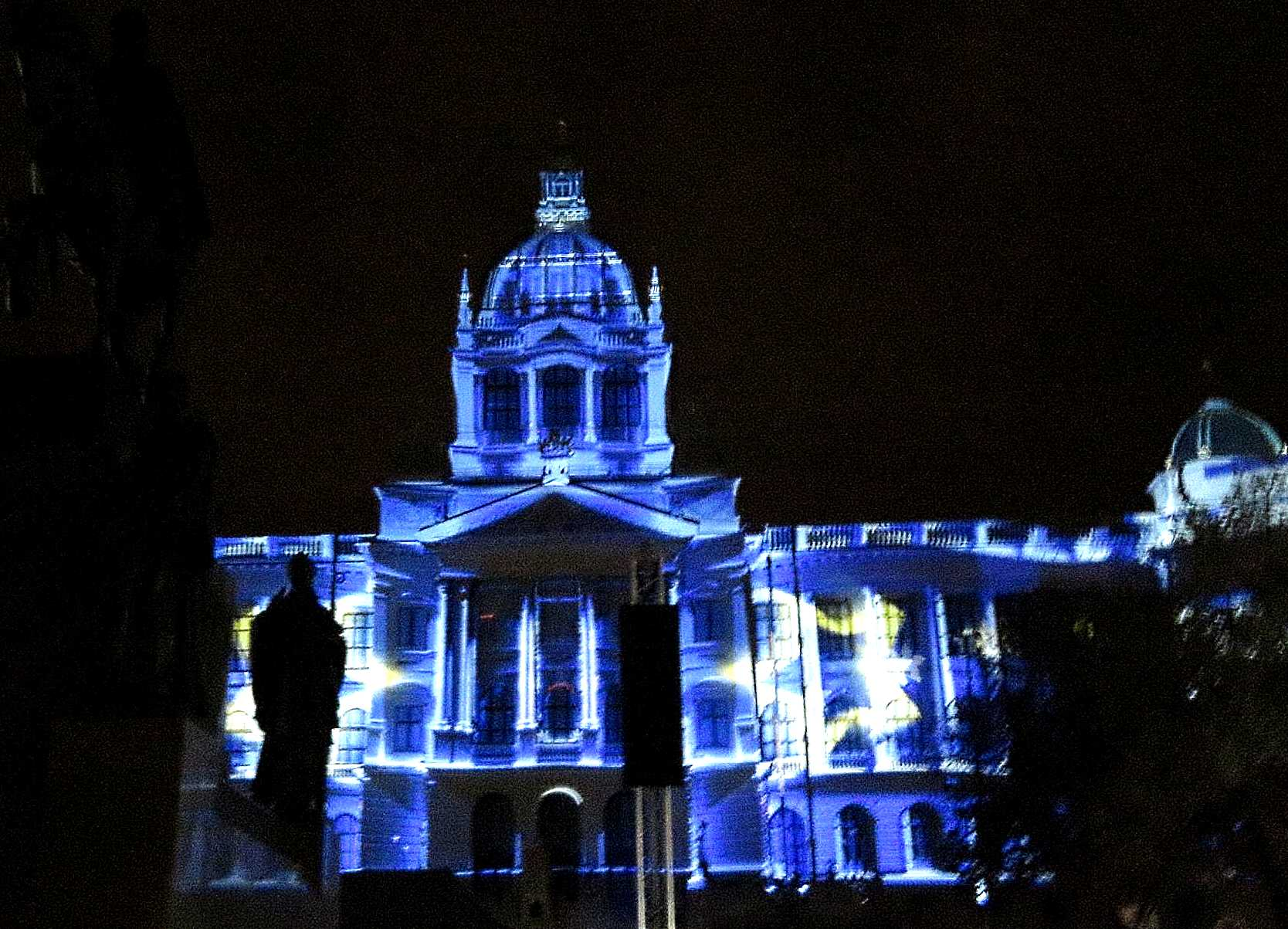 Instead of fireworks, Prague will celebrate New Year's Day with videomapping at the National Museum