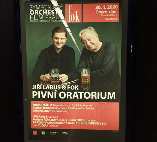 Prague metro advertisement for the concert via Raymond Johnston