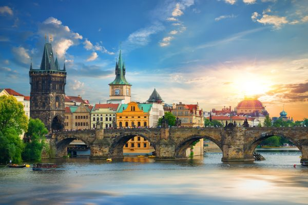 Charles Bridge and Old Town in Prague, Czech Republic