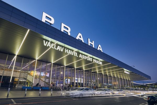 Václav Havel Airport in Prague, Czech Republic, March 2019