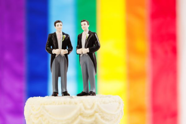 Same sex marriage wedding cake (illustrative photo)