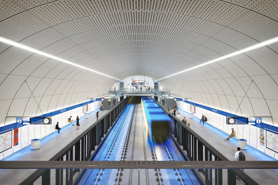 Prague presents new visualizations of Metro D stations