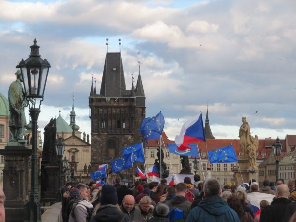 March 1, 2020: Million Moments for Democracy marches through Prague via Raymond Johnston