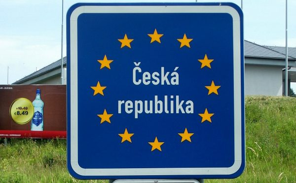 At the border of the Czech Republic and Germany