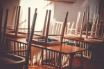 Classroom with chairs on tables via Juraj Varga from Pixabay