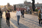 People wearing face masks on Prague's Charles Bridge via iStock / Madeleine_Steinbach