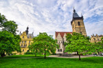 Town hall on Karlove Namesti in Prague - Czech Republic