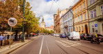Smetanovo Nábřeží street, named after composer Bedřich Smetana, in central Prague via iStock / PleskyRoman