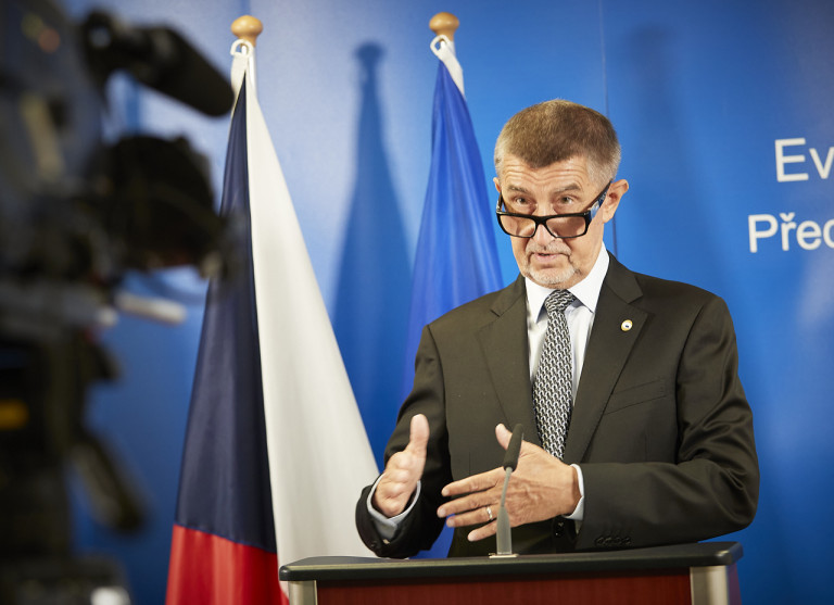 Czech Prime Minister Andrej Babiš at the European Council in Brussels on July 21, 2020 via European Council
