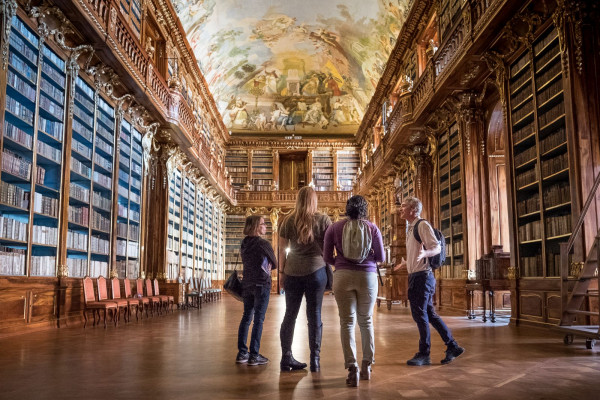 Go behind the ropes of the world's most beautiful library with Prague historians this summer