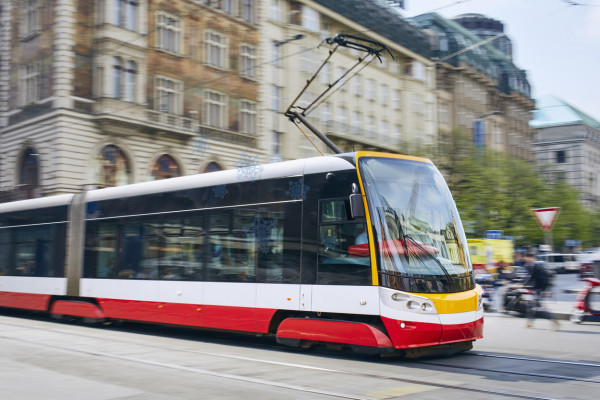 A tram in Prague. Photo: iStock / Chalabala