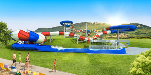 A photo of the upcoming largest waterslide in Czech Republic. Photo: Aqualand Moravia