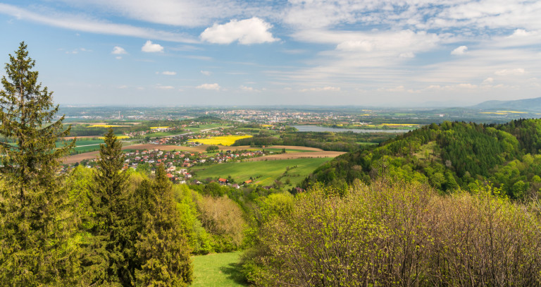View above Chlebovice in Frýdek-Místek, one of the Czech Republic's most-affected regions via iStock / honza28683