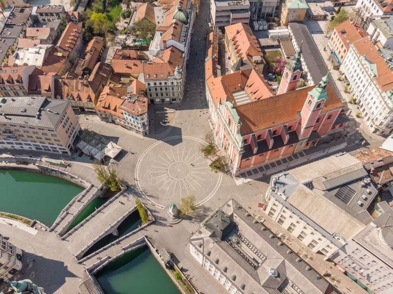 Empty streets of Ljubljana, Slovenia, during the coronavirus pandemic via iStock / kasto80. Czech residents travelling to Slovenia must now undergo a mandatory 14-day quarantine