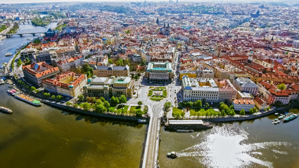 Aerial View Of Prague via iStock /PhotoLondonUK