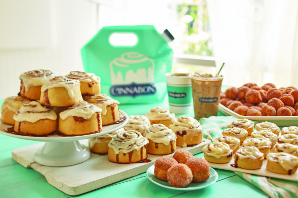 A photo of Cinnabon's products. Photo courtesy of Cinnabon.
