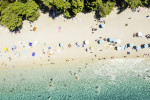 Aerial View of Zlatni Rat Beach, Bol, Croatia via iStock / FG Trade