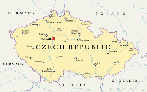 Map of the Czech Republic via iStock / PeterHermesFurian